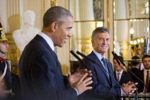 Barack Obama e Mauricio Macri.