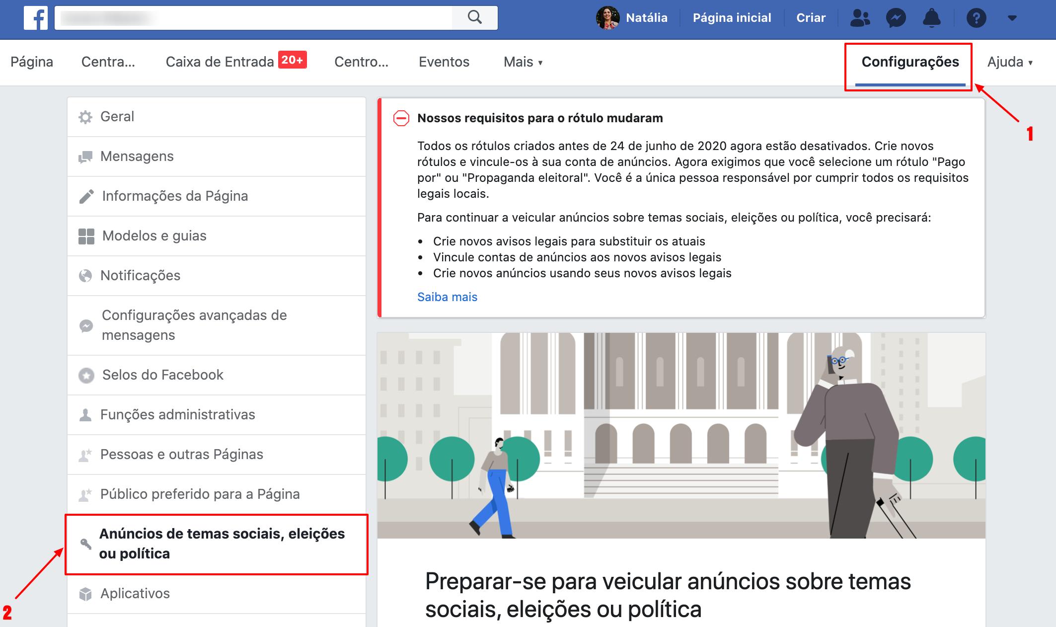 Como verificar perfil para fazer anúncios sobre política e eleições no Facebook