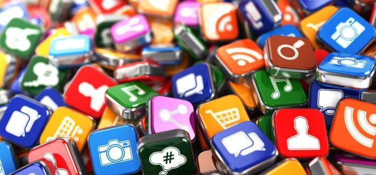 A imagem contém ícones de diversas redes sociais que podem ser utilizadas por quem trabalha com marketing político.