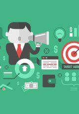 Imagem com ícones representando elementos referentes a comunicação e dinheiro.