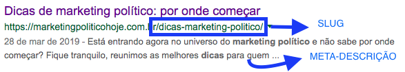 Print de página da resultados de marketing político