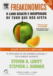 capa do livro freakonomics para figurar na lista de livros para quem trabalha com marketing político