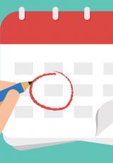 imagem de calendário representando as datas dos eventos contidos no artigo