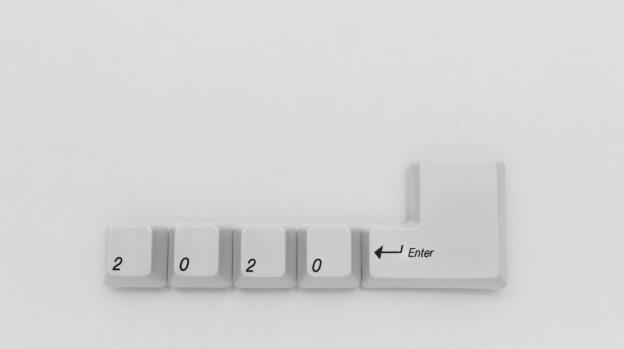 imagem de um teclado com as teclas 2020 para representar as eleições para vereador em 2020