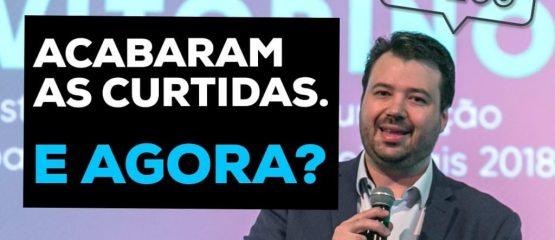 Imagem do professor marcelo vitorino com o texto: acabaram as curtidas, e agora? uma alusão ao fim dos likes no instagram