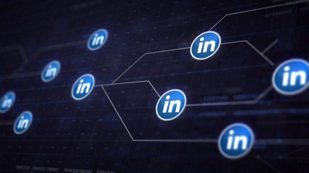 Logos da rede social LinkedIn