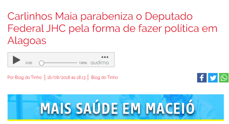parceria com influencer sobre emendas parlamentares marketing político