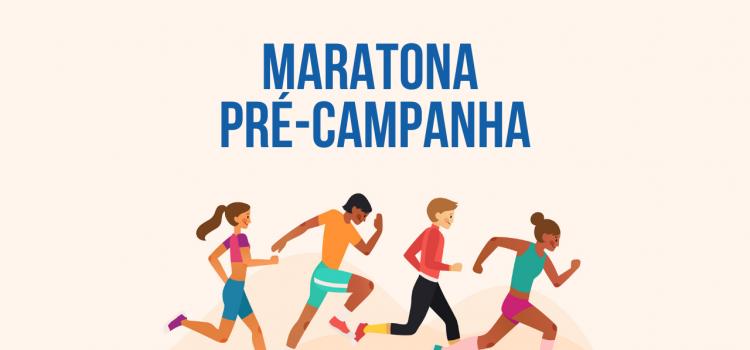 imagem com o texto: maratona pré-campanha