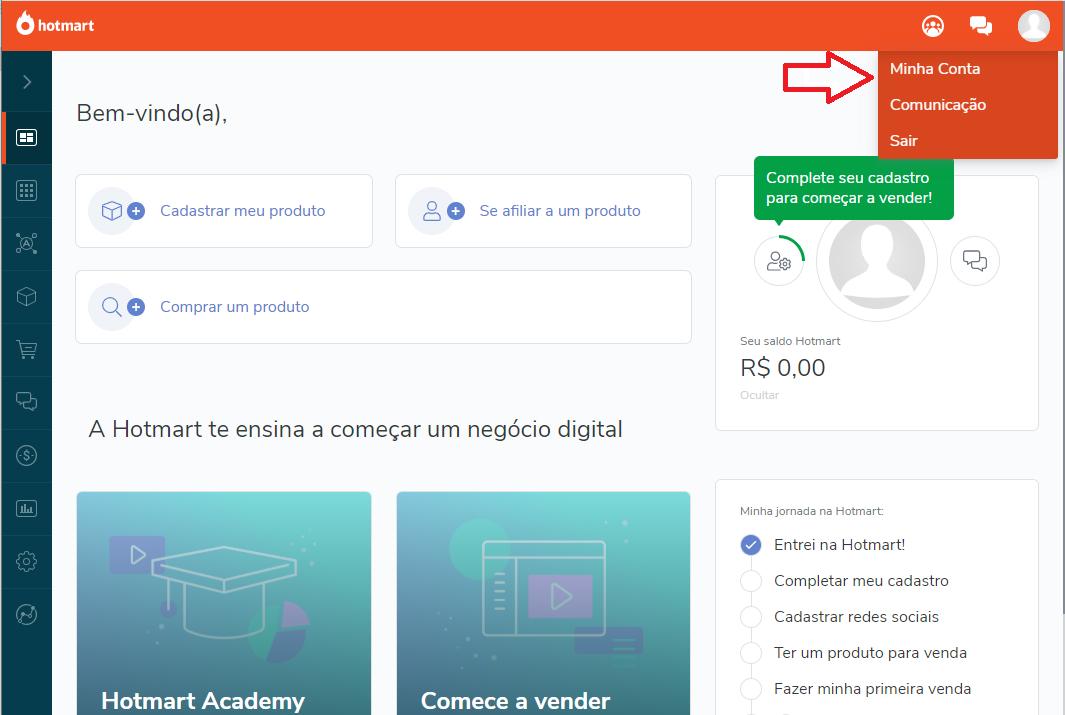 print da ferramenta hotmart para ilustrar a venda de cursos on-line de marketing político 4
