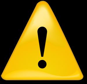 símbolo de alerta para chamar atenção aos conteúdos de comunicação política