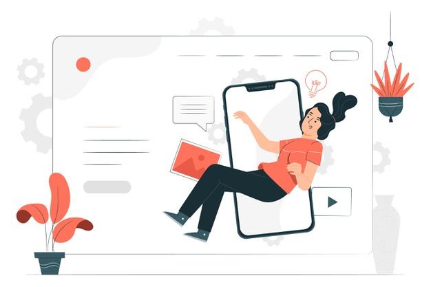 Imagem de uma mulher em frente a uma tela de computador para ilustrar as ferramentas de comunicação digital para mandatos e instituições